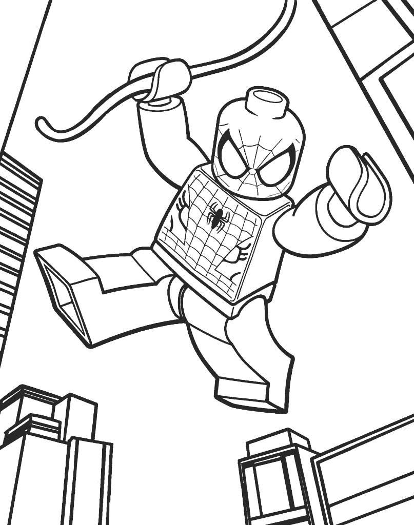 Kolorowanka z ludzikiem Lego Spiderman