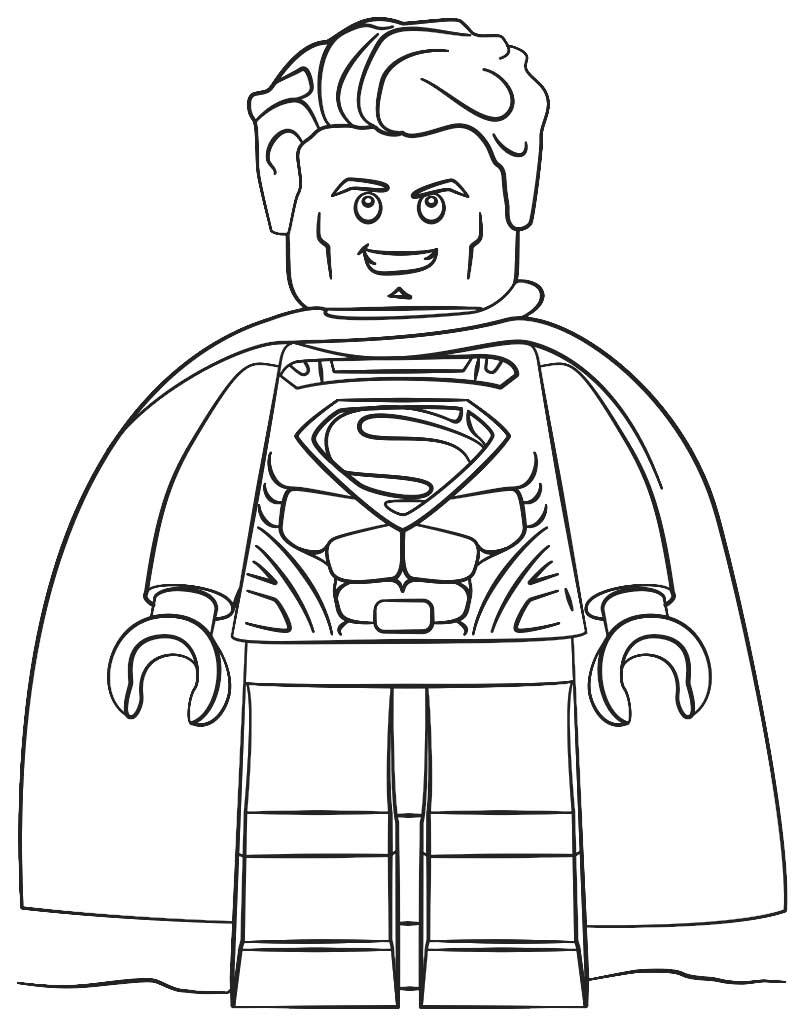Kolorowanka z ludzikiem Lego Superman