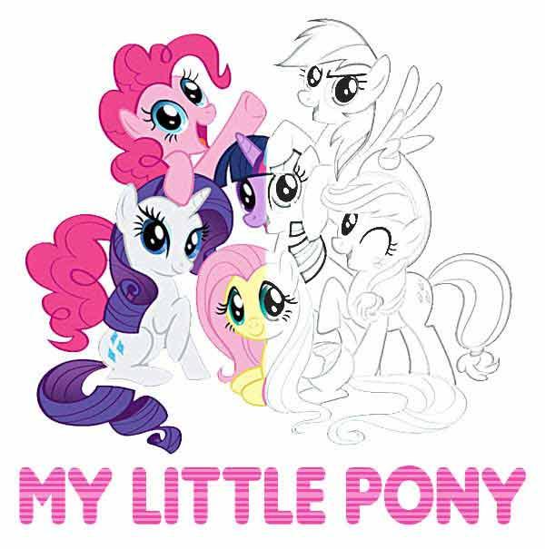 Kolorowanki Pony