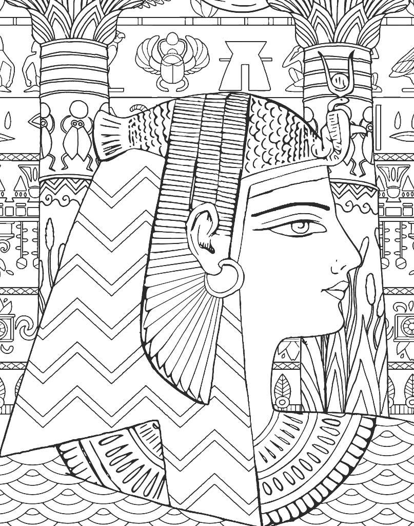 Królowa Egiptu kolorowanka mandala