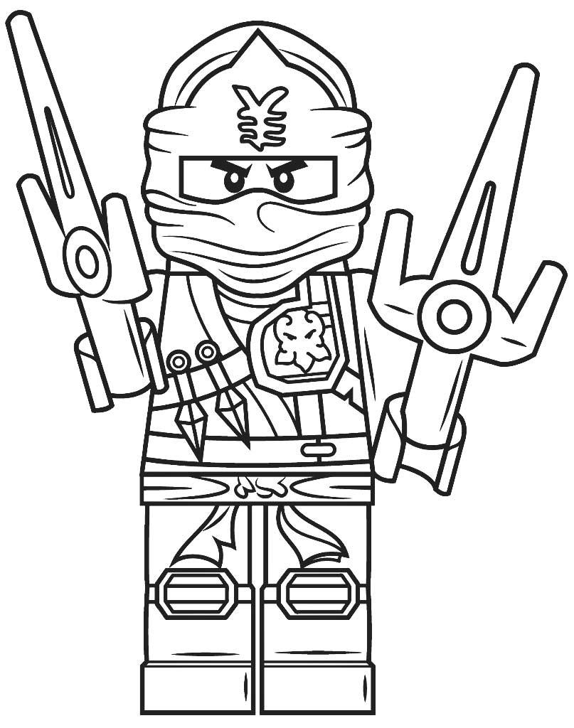 Lego Ninjago Jay kolorowanka do wydruku