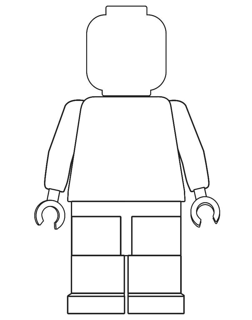 Ludzik Lego kolorowanka dla dzieci