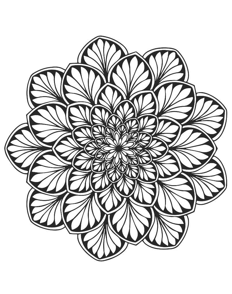 Mandala z liśćmi do druku