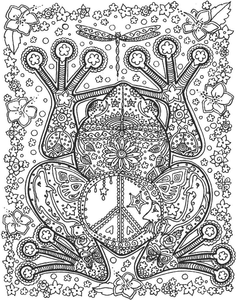 Mandala z ogromną żabą do wydruku