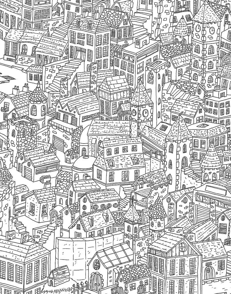 Miasto mandala do wydruku