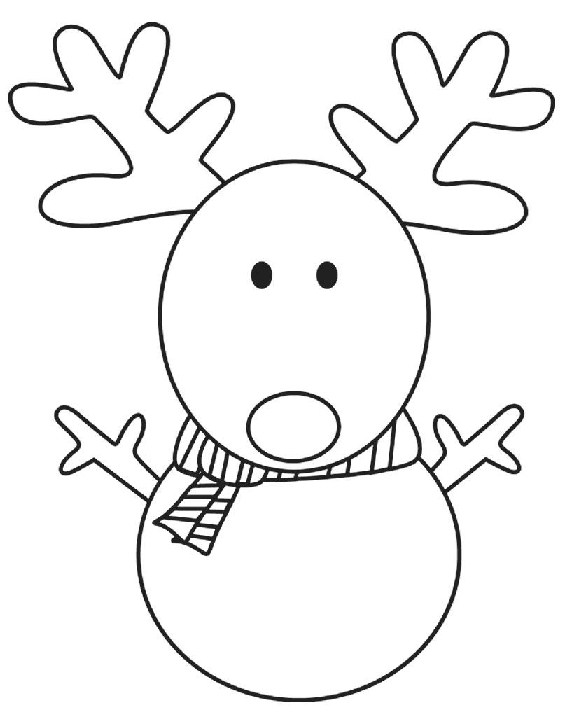 Renifer kolorowanka świąteczna dla dzieci