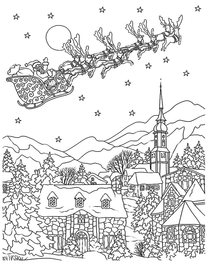 Święty Mikołaj kolorowanka do druku