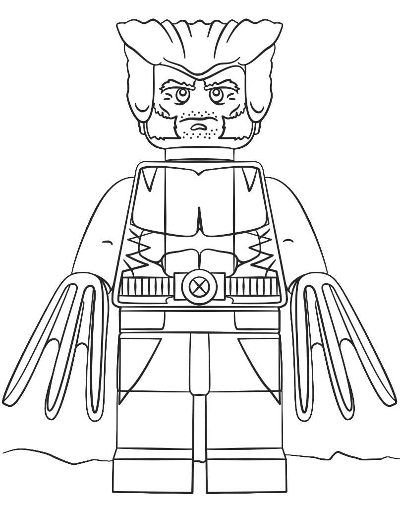 Wolverine kolorowanka z ludzikiem Lego