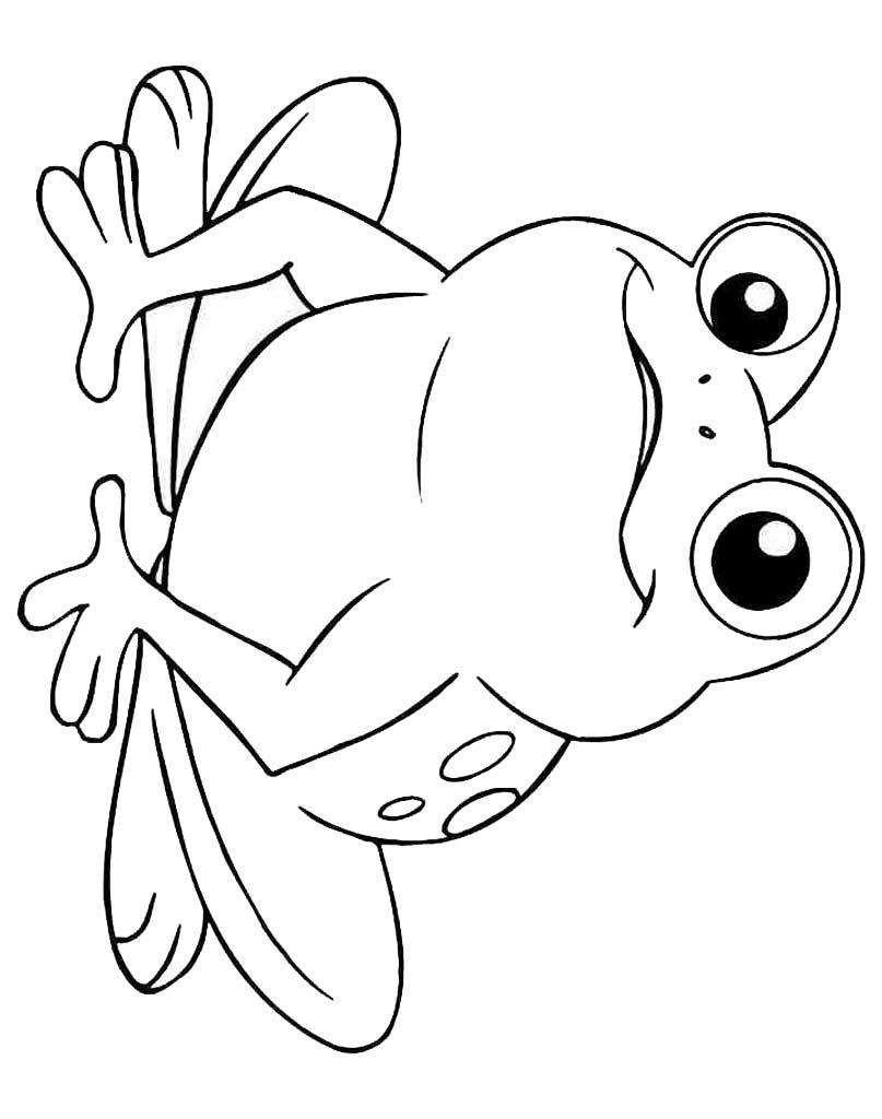 Żabka kolorowanka do malowania