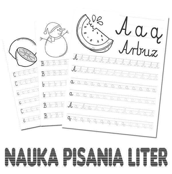 Nauka pisania liter
