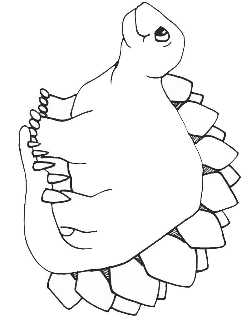 Dinozaur kolorowanka dla dzieci