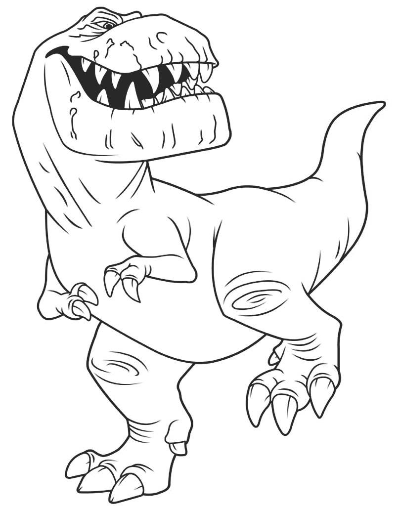 Kolorowanka Butch z kreskówki Dobry Dinozaur