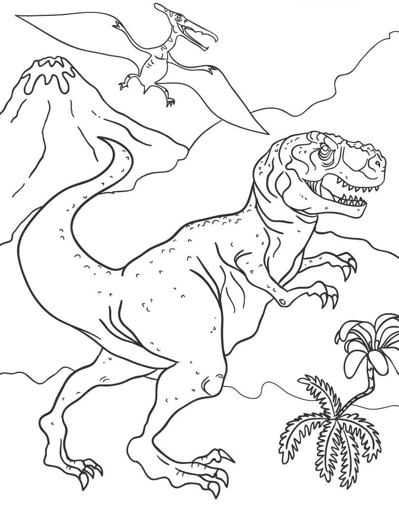 Kolorowanka Tyranozaur do wydruku