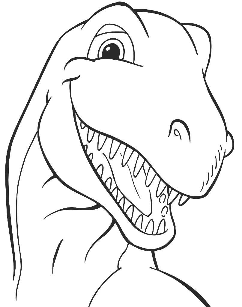 Kolorowanka z głową dinozaura do wydruku