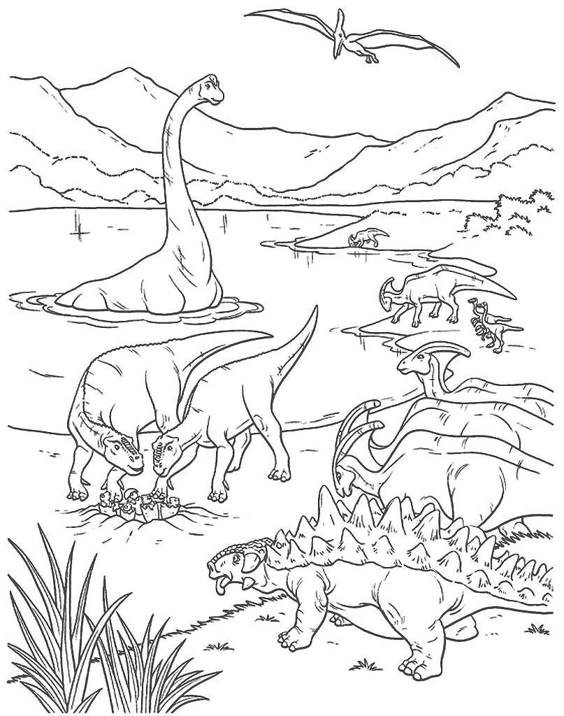 Świat dinozaurów do kolorowania