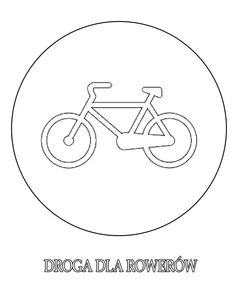 Droga dla rowerów kolorowanka dla dzieci