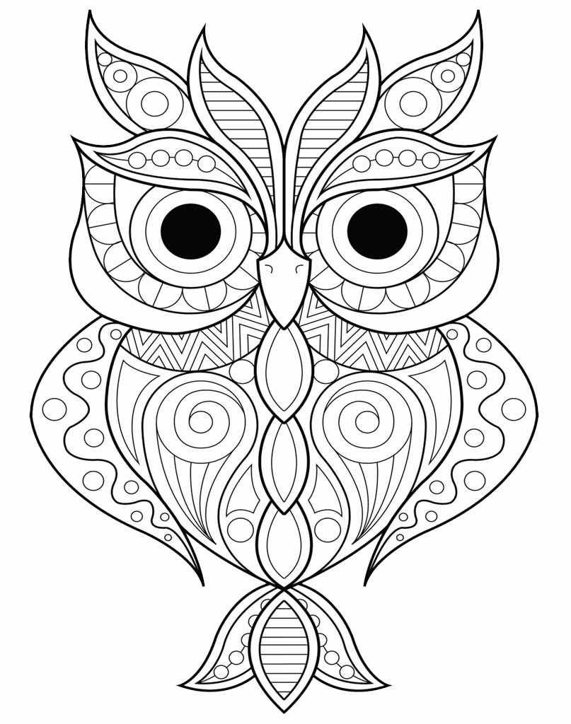 Mandala z sową do druku