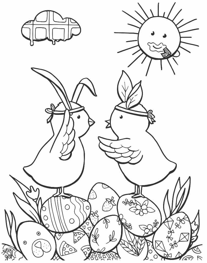 Wielkanocne kaczuszki do malowania