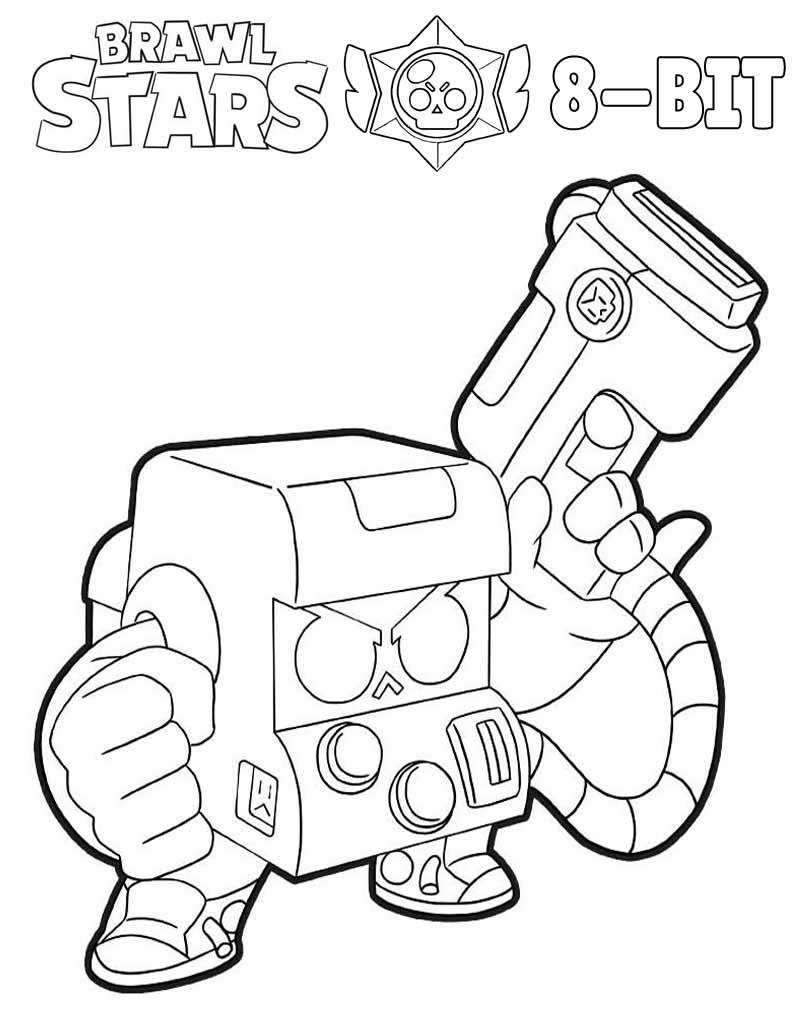 8-Bit kolorowanka Brawl Stars do druku