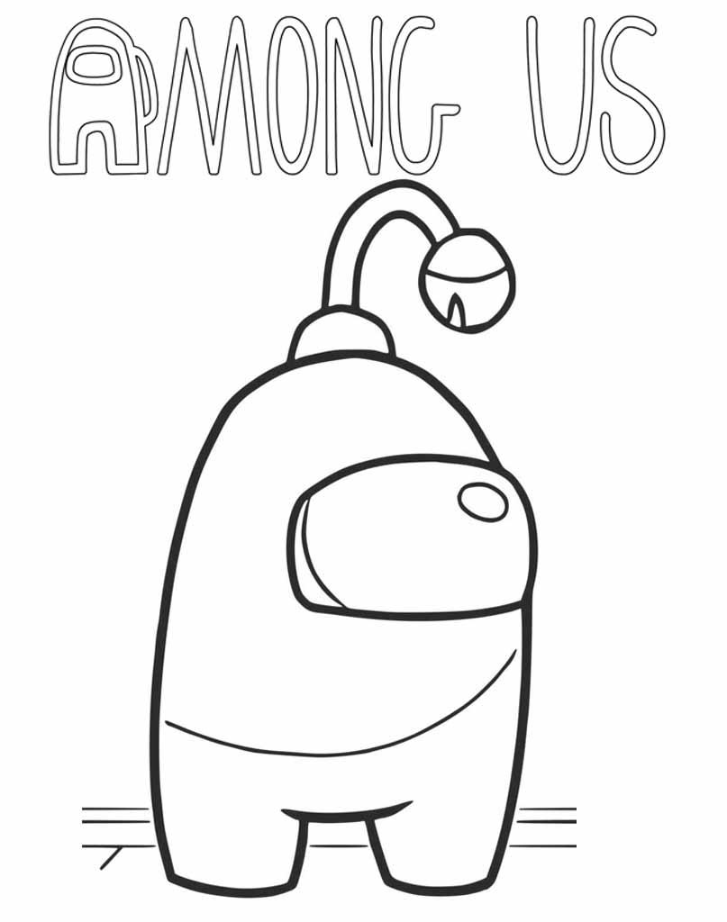 Alien Among Us kolorowanka do wydrukowania