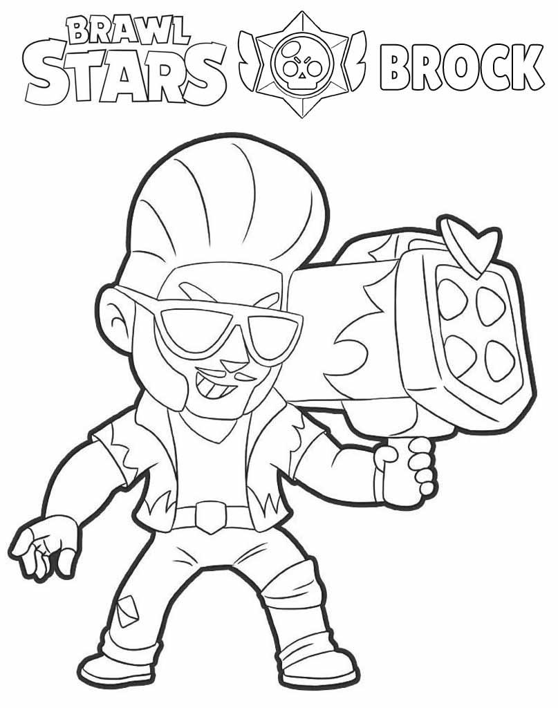 Brock kolorowanka Brawl Stars dla dzieci