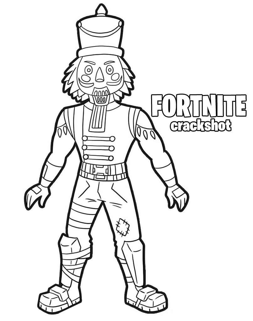 Crackshot kolorowanka z gry Fortnite
