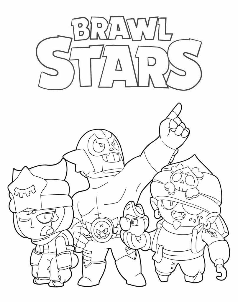 Kolorowanka z piratami Brawl Stars do druku