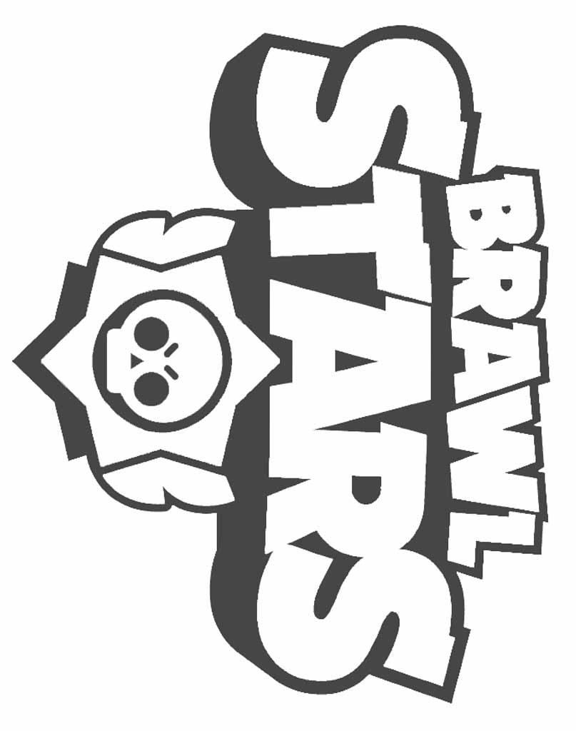 Logo Brawl Stars kolorowanka do druku