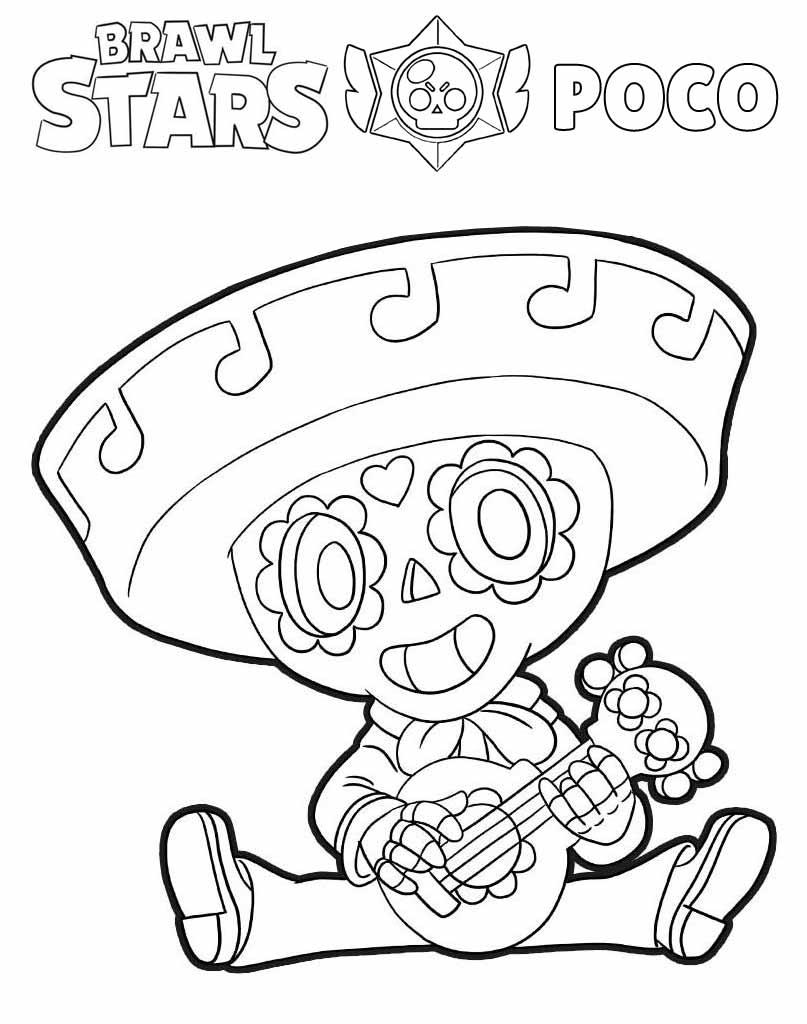 Poco kolorowanka Brawl Stars dla dzieci