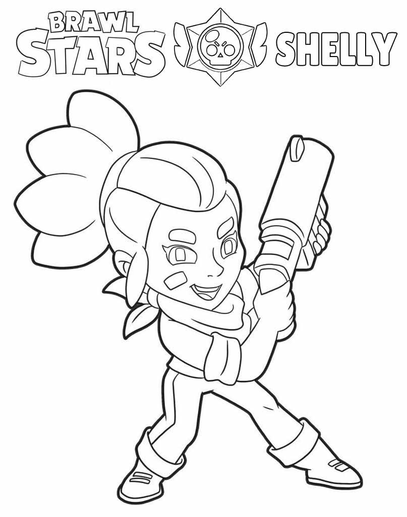 Shelly Brawl Stars kolorowanka do druku