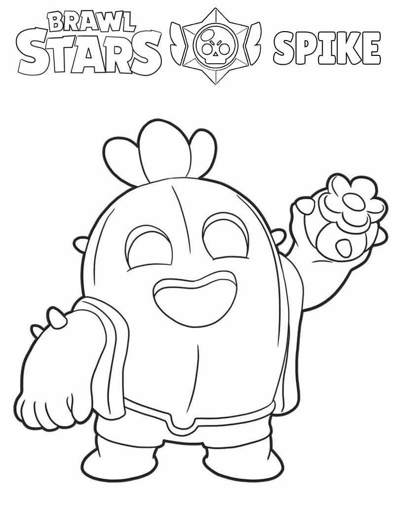 Spike Brawl Stars kolorowanka do druku