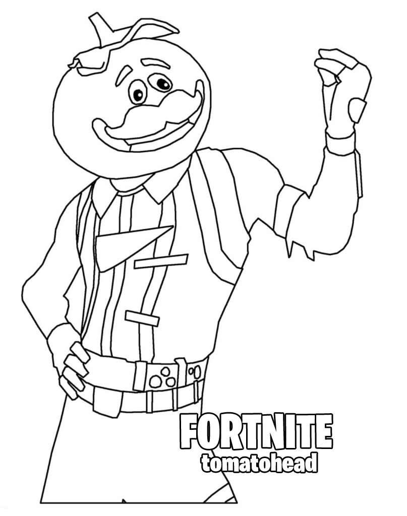 Tomatohead kolorowankado druku z gry Fortnite