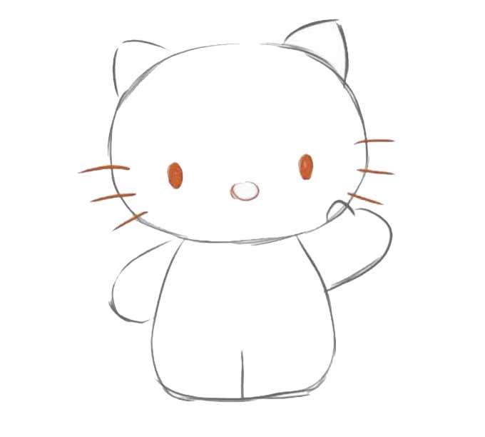 3 jak narysować hello kitty