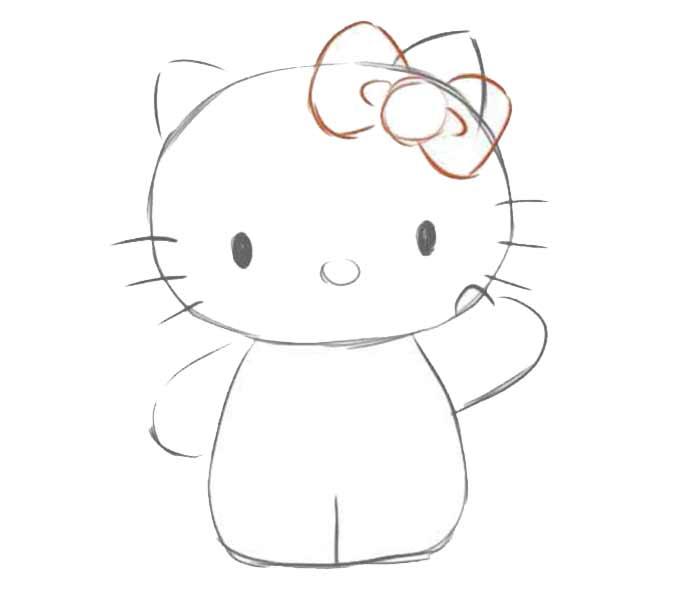 4 jak narysować hello kitty
