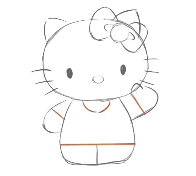 5 jak narysować hello kitty