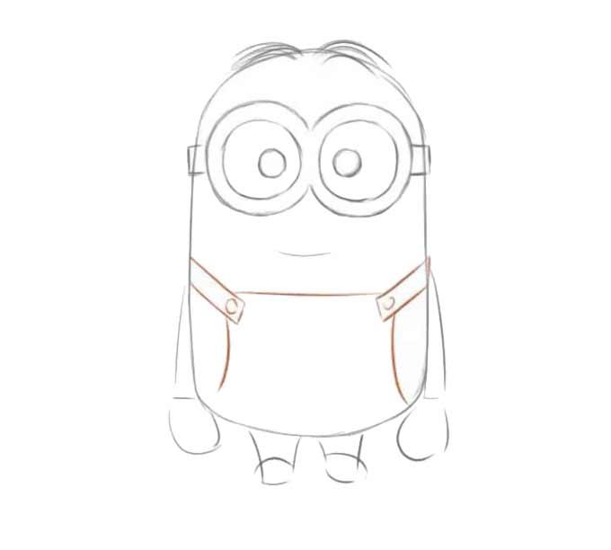 6 jak narysować Minionka