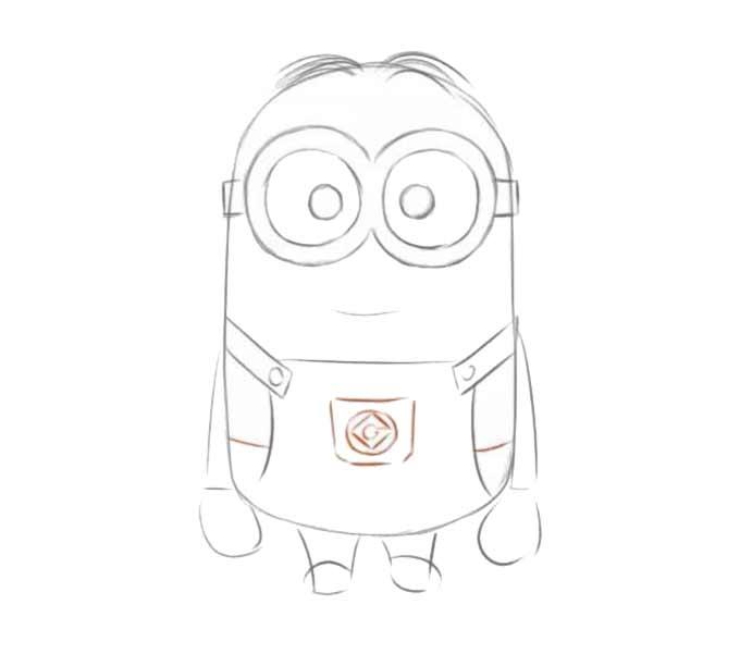 7 jak narysować Minionka