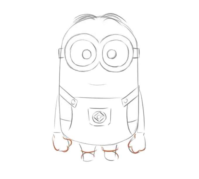 8 jak narysować Minionka