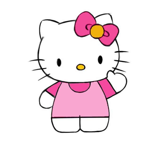 Jak narysować Hello Kitty?
