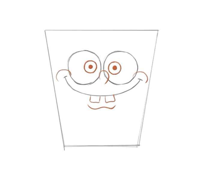 3 jak narysować Spongeboba