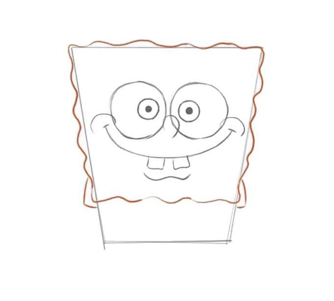 4 jak narysować Spongeboba