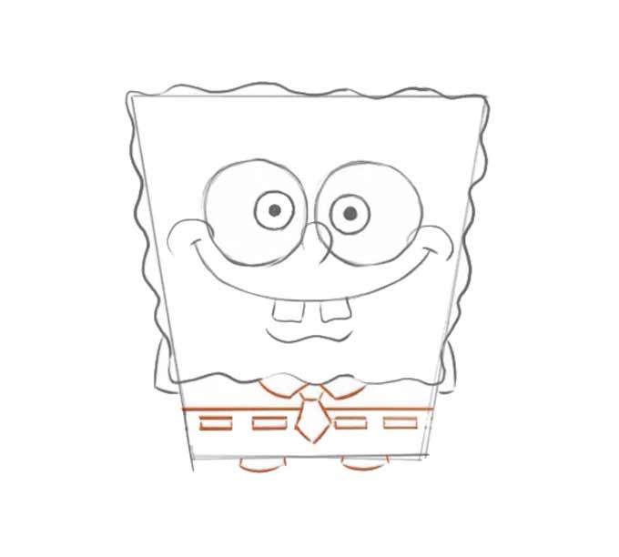 5 jak narysować Spongeboba